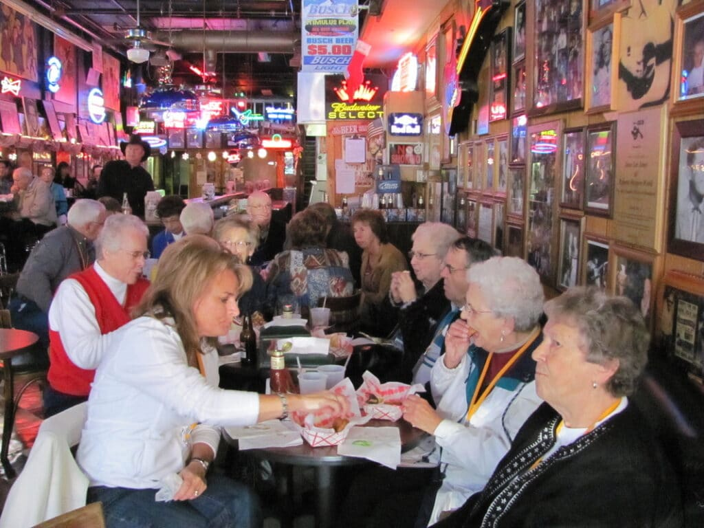 Cannon Falls seniors enjoying meal together