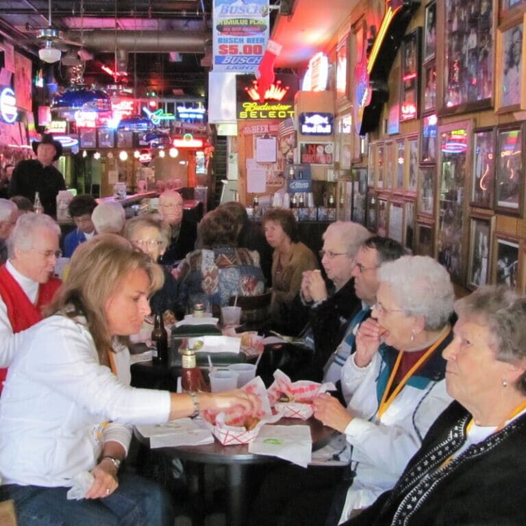 Cannon Falls seniors enjoying meal together